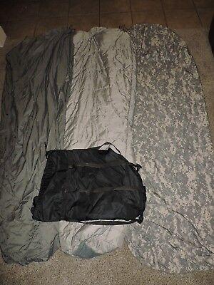 4 Piece Modular Sleep System ACU Digital Camo Sleeping Bag Army Military IMSS 5