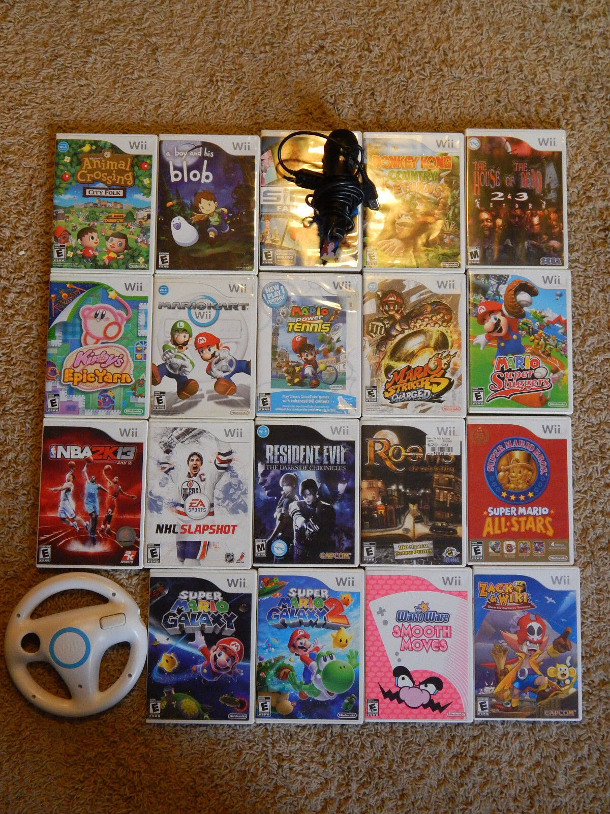 $9.95 - Nintendo Wii Games! You Choose from Large Selection! Many Titles! Mario Kirby