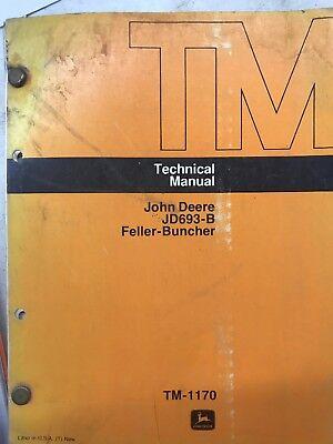 John Deere Jd693-b Feller Buncher Technical Manual