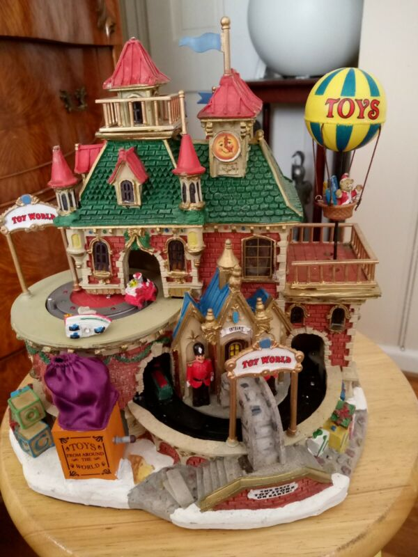 Vintage Lemax Carole Towne Animated Toy World Lighted House