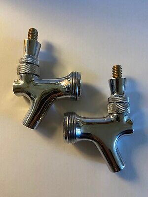 2 Pack Krome Dispense C201 Chrome Plated Brass Draft Beer Faucet Tap Homebrew