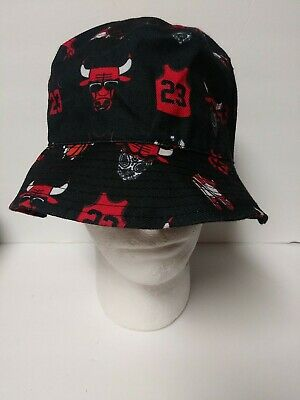MUKA Chicago Bulls Jordan Headgear Company Floppy Bucket Hat A1