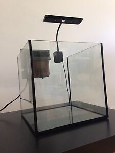 MODERN CUBE AQUARIUM Stand, 2 filters, heater, light,accessories