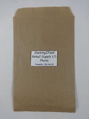 8.5 X 11 Kraft Bronw Paper Flat Merchandise Bags Gift Retail Shopping