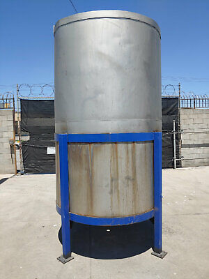 Stainless Steel Tank Open Top Tank 1200 Gallon Water Tested