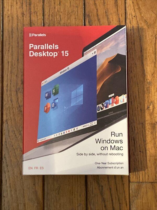 New In Original Box Parallels Desktop Version 15 Run Windows on Mac