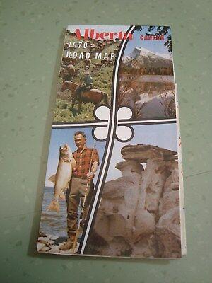 Vintage 1970 Alberta Canada Road Map