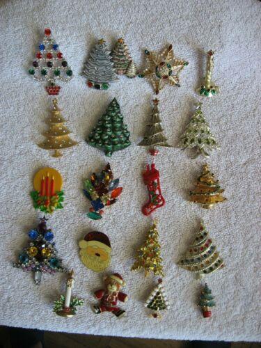 WONDERFUL LOT OF 20 CHRISTMAS PINS