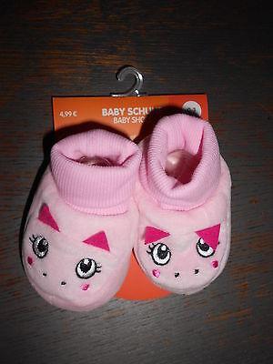 Baby Schuhe Nicki  rosa / pink mit Gesicht  Größe 0 - 3 Monate           - NEU - ()