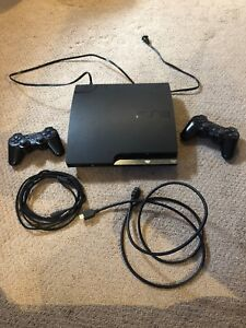 PLAY STATION 3 WITH 2 CONTROLLERS & WIRES only $89