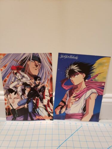 Yu Yu Hakusho set of 2 art prints official japan Hiei Yusuke Kurama Group anime