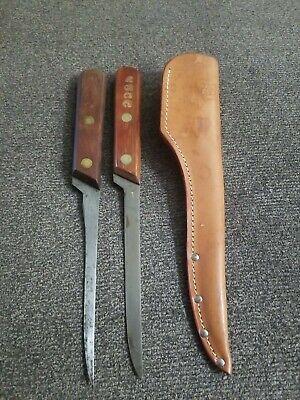 Olsen O.K H.C. Michigan fillet knife. Michigan United Conservation Club branded.