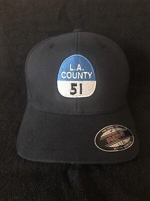 """Hit 1970's TV Show """"Emergency"""" 51 Capt Shield  Flex Fit Hat.  L.A. Co. Fire."""