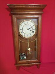 Seiko Solid Wood Dual Chimes Pendulum Wall Clock  New