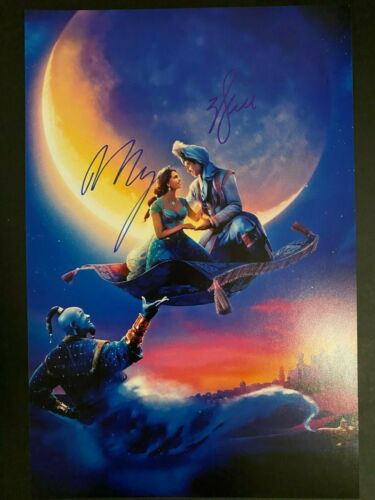 ALADDIN SIGNED POSTER 12X18 MENA MASSOUD WILL SMITH AUTOGRAPH