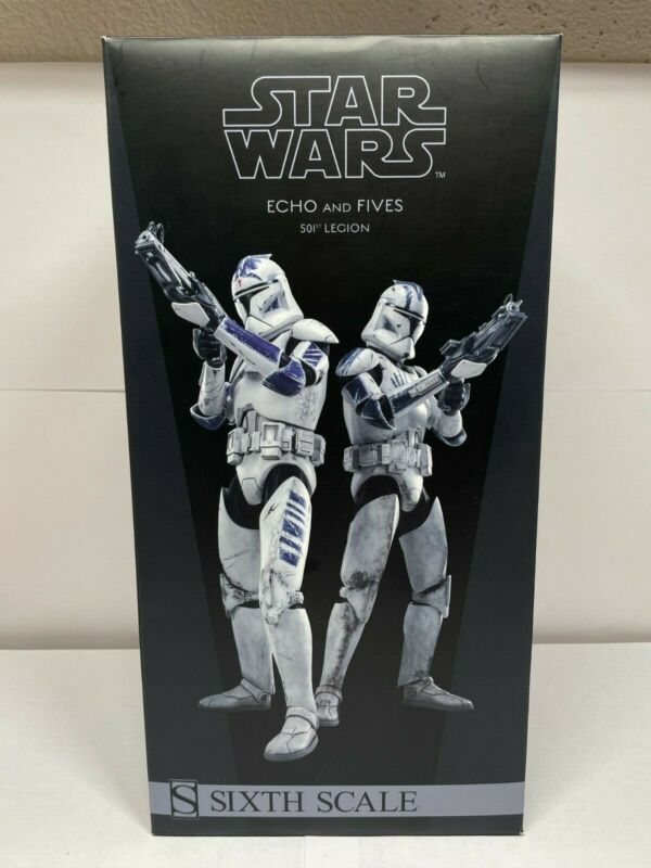 RARE Star Wars Sideshow Clone Troopers Echo and Fives (1/6 Scale) BRAND NEW
