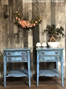 Beautiful refinish antique end tables / side Tables