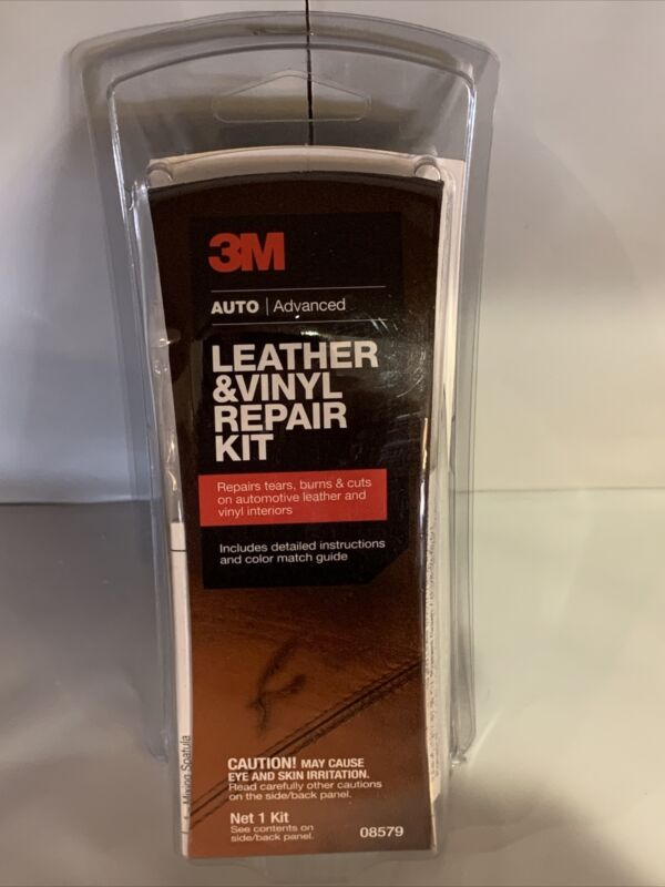 3M Leather and Vinyl Repair Kit Fix Automotive Home Patch Tears Burns Holes New