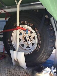 Nissan patrol gu steel rim and tyre Butler Wanneroo Area Preview