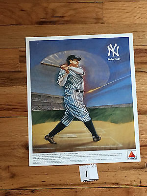 Babe Ruth - NY Yankee 1989 Citgo Color Lithograph