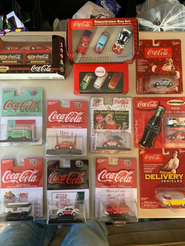 VW Coca Cola Lot die-cast 1:64 several brands die cast