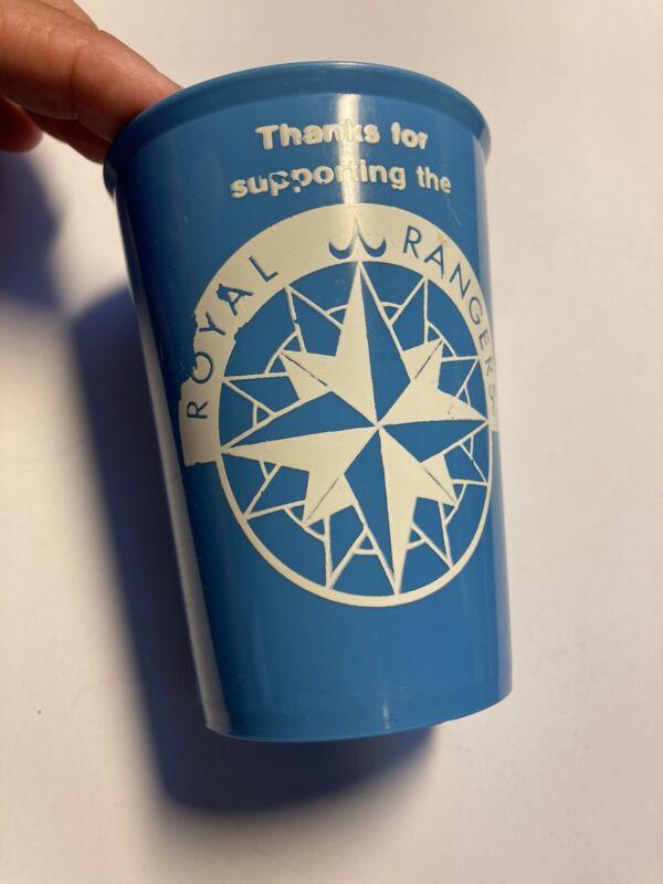 "Royal Rangers Vintage Blue Cup Ranger Pledge Some Wear 4"" Tall"
