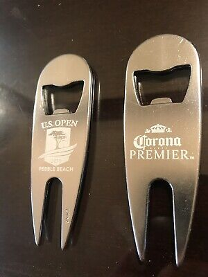2019 US OPEN PEBBLE BEACH Golf Ball Marker Divot Corona Bottle Opener (2 Qty)