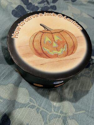 "NIB MWW Market HOW TO CARVE A PUMPKIN 4.5"" Mini Plate Halloween O Lantern"