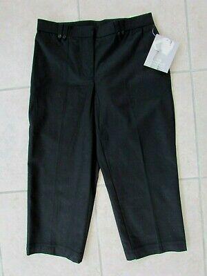 Sag Harbor Womens Capri Cropped Pants Black Size 4P Slimming NWT