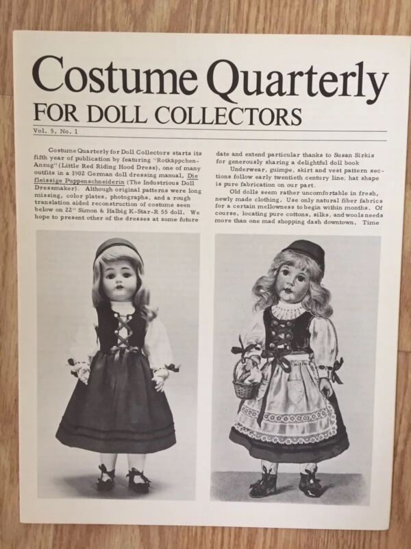 Costume Quarterly, LITTLE RED RIDING HOOD DRESS Pattern & Booklet, 1978