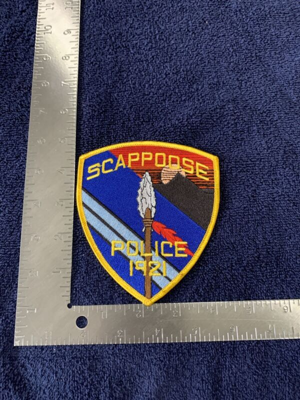 SCAPPOOSE OREGON POLICE SHOULDER PATCH INDIAN TRIBAL THEME