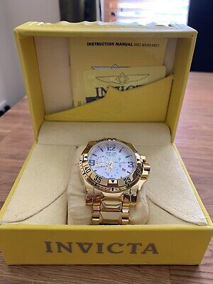 Mens Gold Plated Invicta Reserve Excursion Watch
