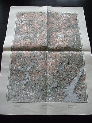 alte Karte Landkarte 28`46` Sondrio Italien von 1905 Salo Brescia Tirano