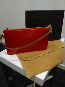 Authentic Louis Vuitton Vernis Monogram Leather Clutch Shoulder Bag