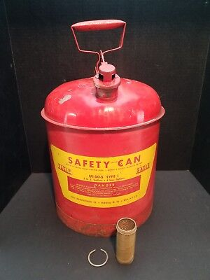 Large Red 5-gallon Eagle Gas Oil Safety Can Spout Nozzle Clean Inside Screened