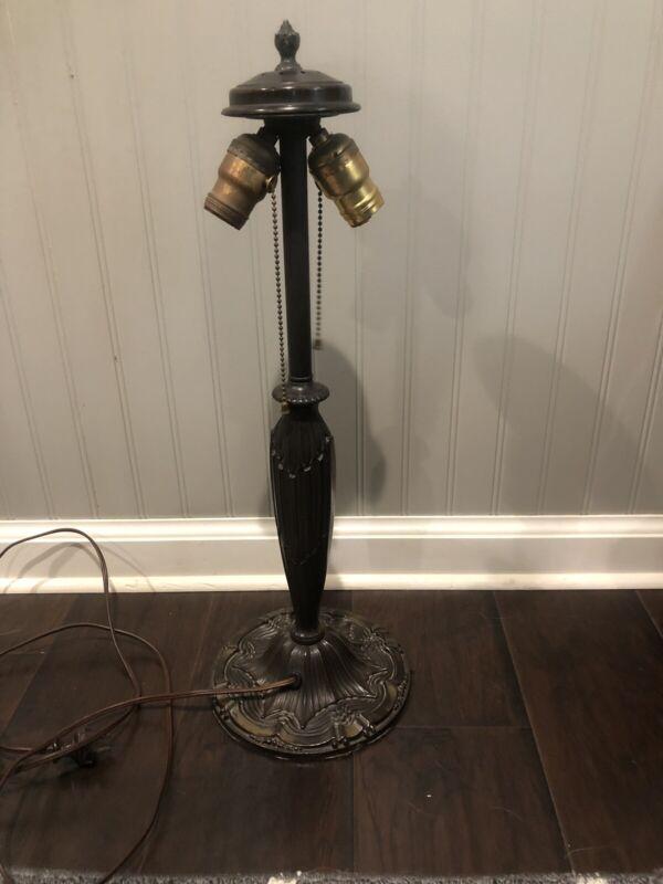 Antique Art Nouveau Bronze Working Lamp Base