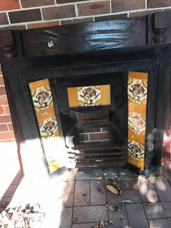 Fireplace Mantle and Fire Place