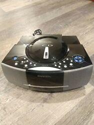 Emerson Research SmartSet Black AM/FM Dual Alarm CD Clock Radio Player (CKD5811)
