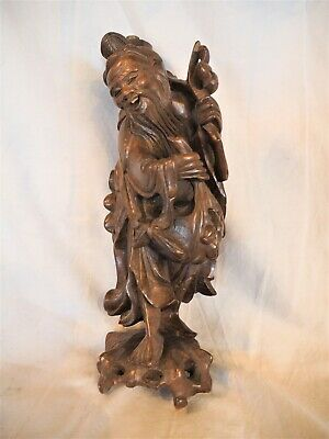 Antique oriental wooden carved man