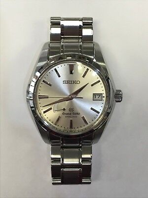 Seiko Grand Seiko Spring Drive Auto 41mm Steel Mens Bracelet Watch Date SBGA001