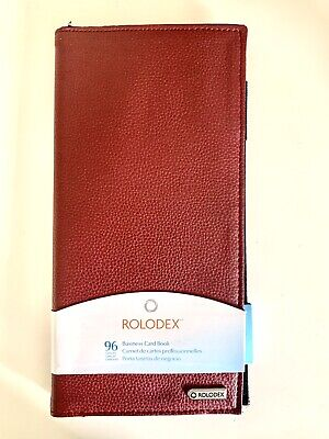 Rolodex 96 Capacity Business Card Book Features An Extra Pocket For Storage T6
