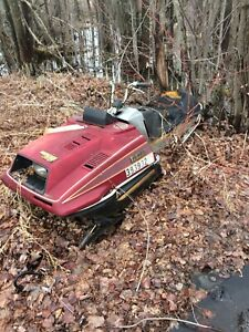 Old snowmobile