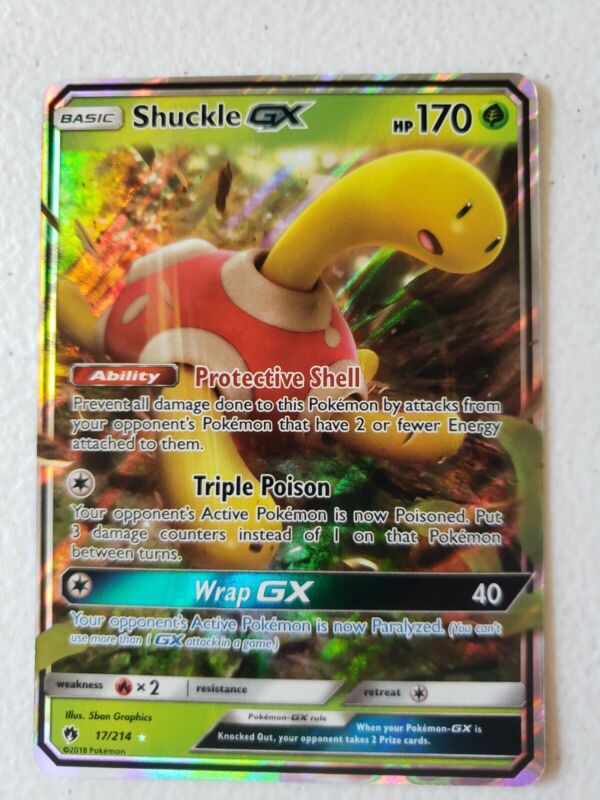 x1 Shuckle GX Ultra Rare Pokemon SM8 Lost Thunder M//NM 17//214