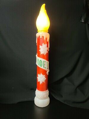 Vintage Empire 1973 Noel Candle Blow Mold Christmas Lawn Decor