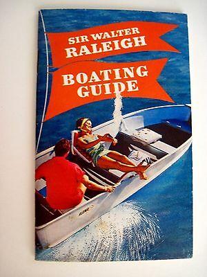 Relaxing 1963 Advertising Booklet for Sir Raleigh Tobacco Pouch Boating Guide  *