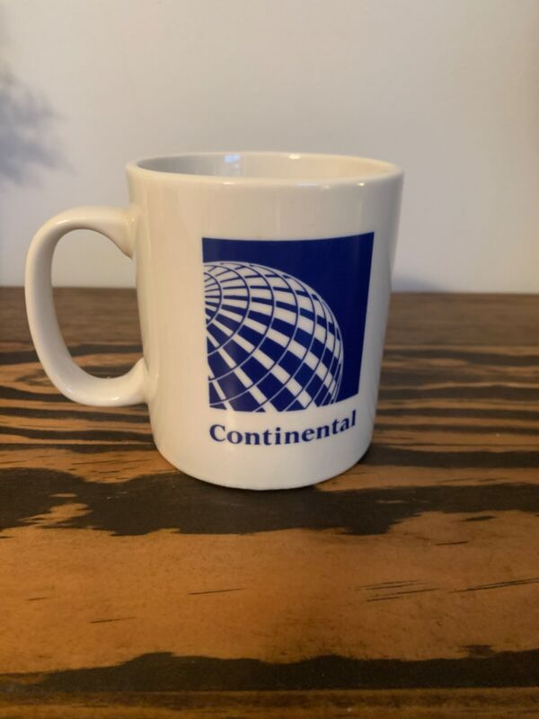 Continental Airlines Mug - Airlines, Vintage, Retro
