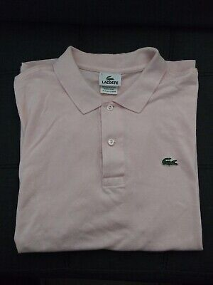 Lacoste Men's Short Sleeve Polo Shirt Classic Fit Size (5) Pink