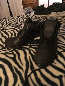 Size 8 steel toed boots.