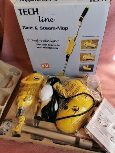 TECH Line Dampfreiniger Gleit & Steam Mop Wischmop Dampfmop