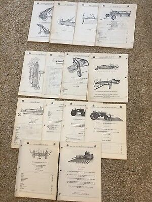 Farmall Ih Hay Side Rakeschoppers Loaderstedders Parts Manual Catalog